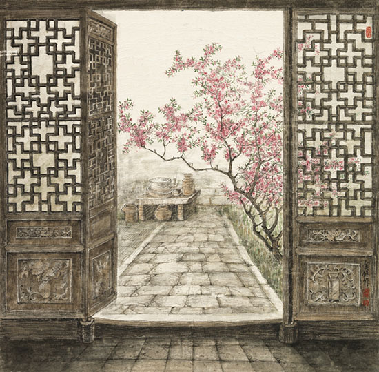 1954年9月出生,江苏常州人,书画家,高级美术师,专攻江南老房子绘画.