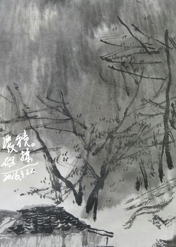 黑白风景写生照片素材