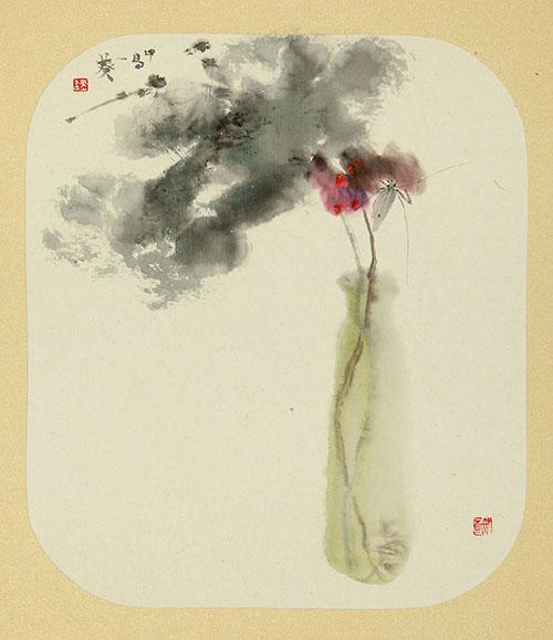 魏葵水墨人物,花卉