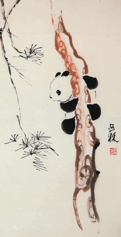 吕林写意动物,吕林-松熊猫