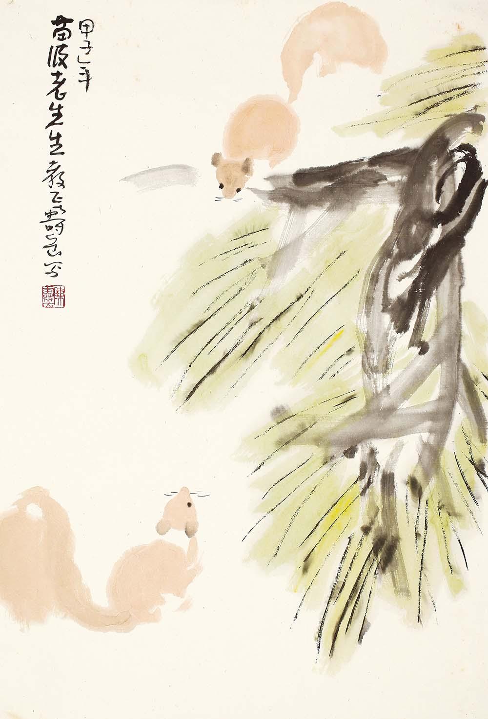 陈寿岳写意动物,陈寿岳-松鼠