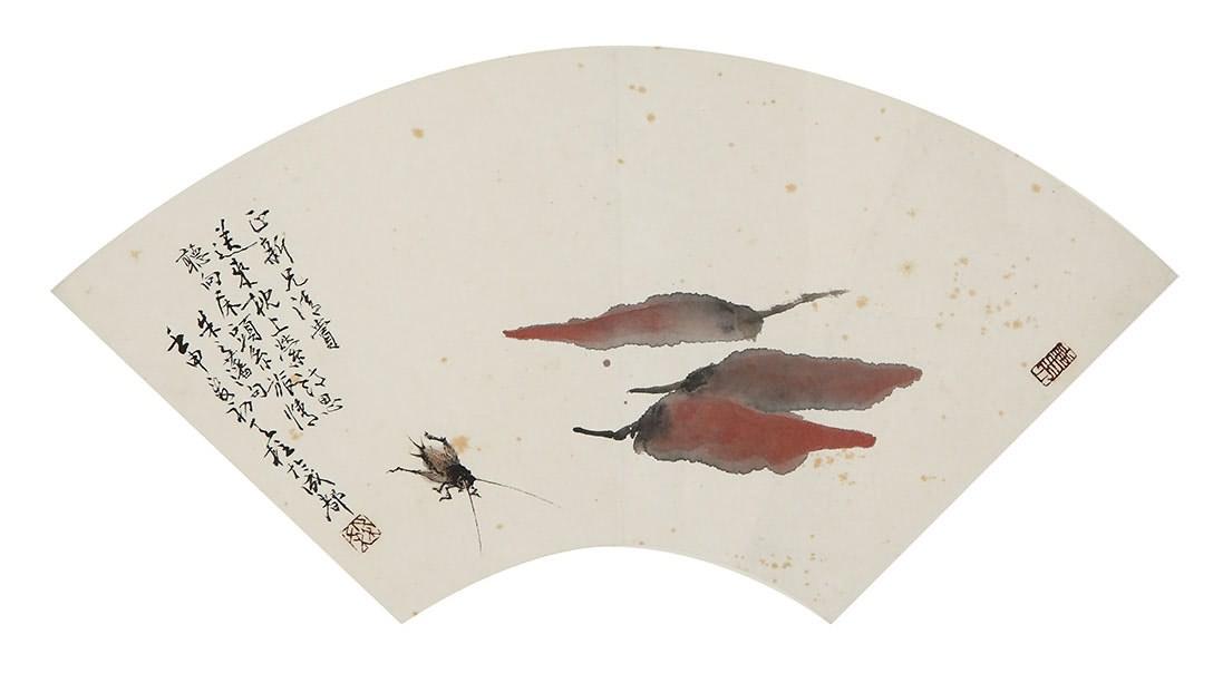 国画蟋蟀画法步骤图片