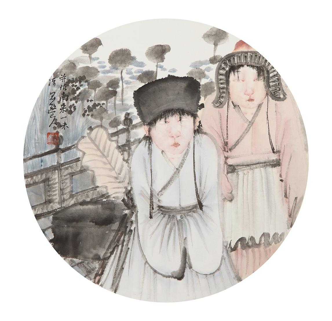 吴浩-《人物》团扇