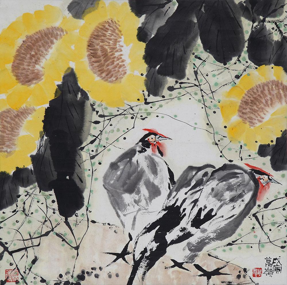 动物 国画 鸡 1000_992