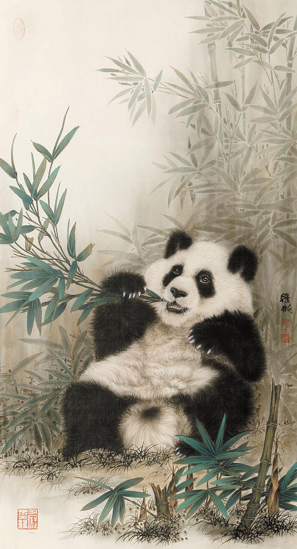 壁纸 大熊猫 动物 1000_1845 竖版 竖屏 手机